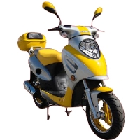 150cc MC-07S-150 4-Stroke Air-Cooled Moped Scooter w/ Aluminum Rims