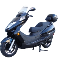 "150cc RipTide Moped Scooter Two Seater With Trunk & 12"" Rims"