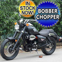 250cc Motorbike Street Legal Bobber Chopper Motorcycle - MC-141-250