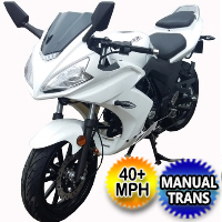 50cc YamaSaki Speed Smurf Motorcycle Scooter Bike With Manual Trans. 4 Speed 40+ MPH - MC-157-50