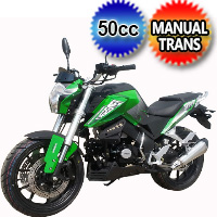50cc Racer Rally Sport Motorcycle Scooter With Manual Transmission 4 speed 40+ MPH