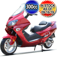 300cc Scooter Touring Moped With 13 Inch Aluminum Wheels - MC-161-300