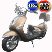 150cc Italian Retro 4 Stroke Single Cylinder Moped Scooter - MC-16L-150
