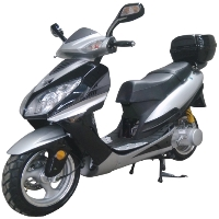 150cc MC-75K-150 4-Stroke Single Cylinder Air-Cooled Moped Scooter