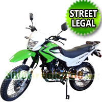 229cc Enduro Street Legal Dirt Bike 5 Speed Manual w/ Electric/Kick Start - Nduro Bike 18B