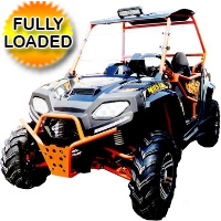 Avenger 170 Max UTV Utility Vehicle w/ Windshield Oversized Tires & Custom Rims/Suspension - UV-29-150