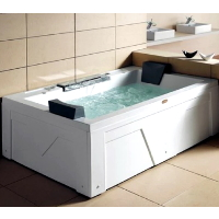 "Grandios WS-0506 71""x52""x26"" Dual Therapy Rectangular Jetted Bath Tub"