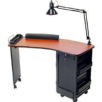 Wooden Manicure Table with Trays
