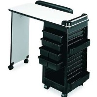 Manicure Plus Table w/Trays & Pockets