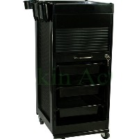 Lockable Trolley with Extra Aluminum Top Tray