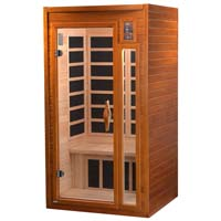 1-2 Person Infrared Sauna with 6 Heaters - Barcelona Edition