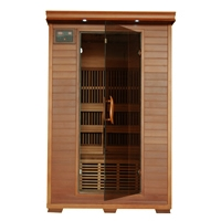 Yukon 2 Person Infrared Sauna with Carbon Heaters - Corner Unit