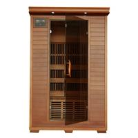 Yukon 2 Person Infrared Sauna with Carbon Heaters - Corner Unit