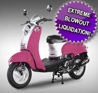 50cc Retro Pink Panther Scooter Moped - (Extreme Blowout!)