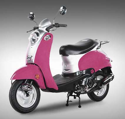 50cc retro pink panther scooter moped extreme blowout. Black Bedroom Furniture Sets. Home Design Ideas
