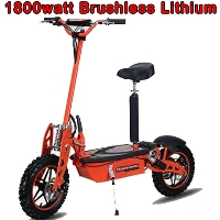 48V 1800W Super Brushless Lithium Stand Up/Sit Down Folding Electric Scooter