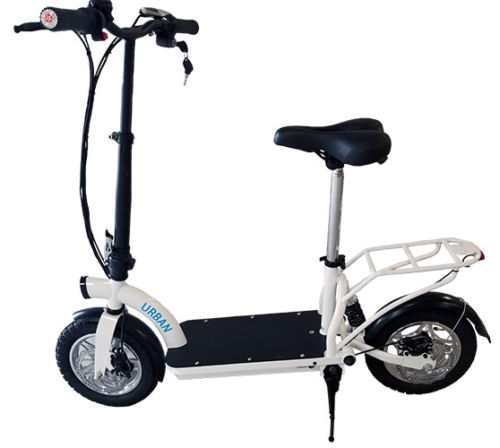 smart urban 500 watt lithium electric scooter w seat. Black Bedroom Furniture Sets. Home Design Ideas