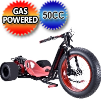 "ScooterX 49cc Drift Master Drift Trike With 22"" Front Tire"