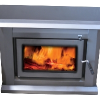 Wood Burning 70,000 BTU Fireplace Insert Heating Stove Firebox