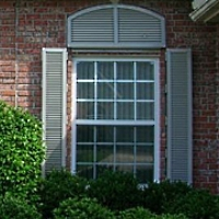 Stock Decorative Colonial Hurricane Shutters - Pair
