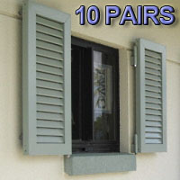 Stock Decorative Fixed Colonial Hurricane Shutters - Pair