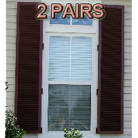 Stock Decorative Hinged Colonial Hurricane Shutters - 30 x 37.125 Pair