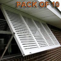 Stock Decorative Bahama Hurricane Shutters - Pair