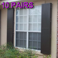 Stock Board & Batten Fixed Colonial Hurricane Shutters - Pair