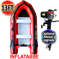 Inflatable Boat Aluminum Floor Aluminum Transom 4 Person Professional Heavy Duty Saltwater Fishing Boat