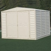 Duramax 8x6 DuraMate Vinyl Shed + Foundation