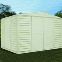 Duramax 10.5 x 8 Woodbridge Vinyl Shed + Foundation