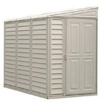 Duramax 4x8 SideMate Vinyl Shed + Foundation
