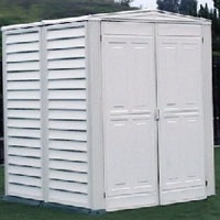Duramax 5x5 Yardmate Vinyl Garden Shed with Floor