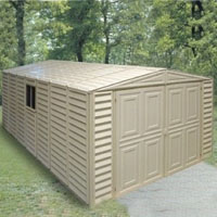 Duramax 10x18 Vinyl Storage Garage with Foundation & Windowinyl Storage Garage with Foundation & Window