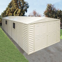 Duramax 10x23 Vinyl Storage Garage with Foundation & Window
