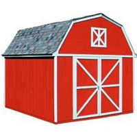 High Quality Pastoral 10' x 10' Garden Tool Shed Kit