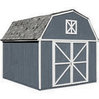 High Quality Pastoral 10' x 12' Garden Tool Shed Kit