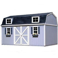 High Quality Pastoral 10' x 18' Garden Tool Shed Kit