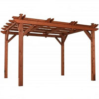 High Quality Grand Cayman 10x12 Overhead Pergola Gazebo