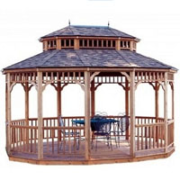 High Quality Bay Breeze 10'x14' Oval Cedar Gazebo