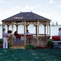 High Quality Bay Breeze 12'x16' Oval Cedar Gazebo