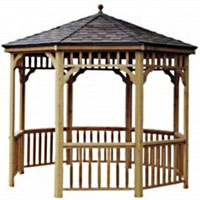 High Quality Eldorado 10' Round Cedar Gazebo