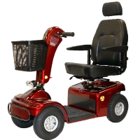 Shoprider Sprinter XL4 Personal Four Wheeled Travel Mobility Scooter - 889B-4