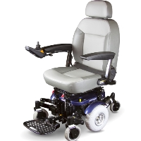 Shoprider Mid-Size Power Travel Mobility Wheelchair - XLR Plus