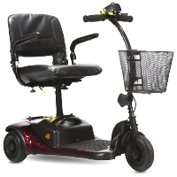 Shoprider Dasher 3 Personal Three Wheeled Travel Mobility Scooter - GK83