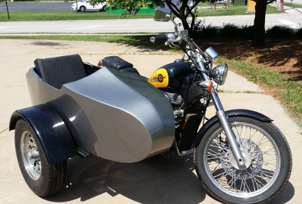 Honda Rocketteer Old School Biker Side Car Motorcycle Sidecar Kit