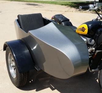 Kawasaki RocketTeer Old School Biker Side Car Motorcycle Sidecar Kit