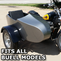 Buell RocketTeer Old School Biker Side Car Motorcycle Sidecar Kit