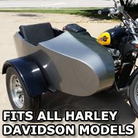 Harley Davidson RocketTeer Old School Biker Side Car Motorcycle Sidecar Kit