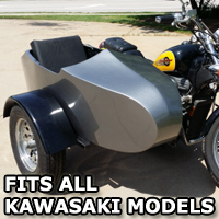 Kawasaki RocketTeer Old School Biker Side Car Motorcycle Sidecar Kit